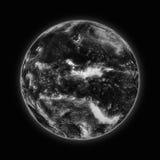 Oceano Pacífico na terra escura do planeta ilustração stock