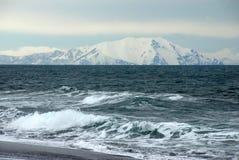 Oceano Pacifico dalla penisola di Kamchatka Fotografie Stock