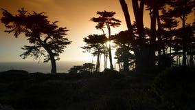 Oceano Pacifico dell'immagine di tramonto Fotografie Stock