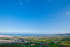 Oceano Pacifico e città Immagine Stock