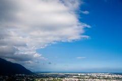 Oceano Pacifico e città Fotografia Stock