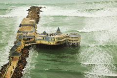 Oceano Pacifico a Lima Fotografie Stock