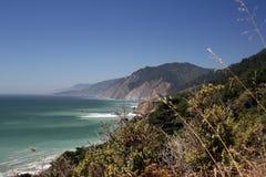 Oceano Pacifico nella regione selvaggia di Sinkyone Immagini Stock Libere da Diritti