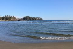 Oceano Pacifico rivolto a Nord del sud della spiaggia Immagini Stock
