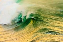 Oceano Pacifico Wave ad alba Fotografia Stock Libera da Diritti