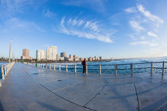 Oceano Pier Beachfront Coastline di Durban immagine stock