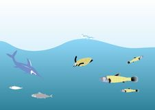 Oceano profondo Immagine Stock