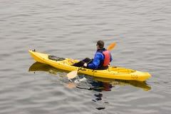 Oceano que Kayaking Imagens de Stock Royalty Free