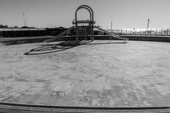 Oceano seco da corrediça de água da piscina Foto de Stock