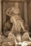 Oceano Statue / Trevi Fountain Royalty Free Stock Photo