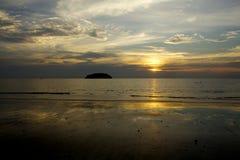 Oceano Sun Foto de Stock Royalty Free