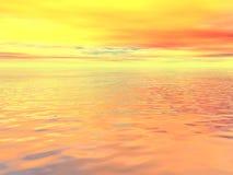 Oceano surreale Fotografia Stock