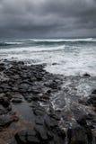 Oceano tempestoso, cielo drammatico Fotografia Stock Libera da Diritti
