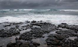 Oceano tempestoso, cielo drammatico Fotografie Stock