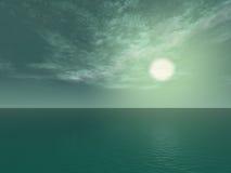 Oceano verde Fotografia de Stock
