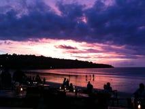 Oceano, vista, mar, lado, restaurante Imagens de Stock