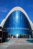 Oceanografic入口在巴伦西亚,西班牙 免版税库存照片
