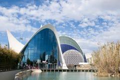 The oceanografic aquarium in the City of Arts and Sciences, Valencia stock image