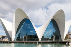The oceanografic aquarium in the City of Arts and Sciences, Valencia Royalty Free Stock Images