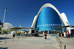 The Oceanografic in Valencia Stock Photography