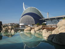 Oceanographic. In The City of Arts and Sciences Valencia, Spain Royalty Free Stock Image