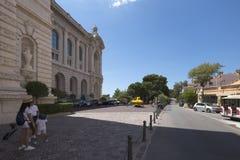 oceanographic monaco museum Arkivbild