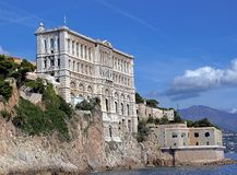 Oceanographic museum of Monaco. Near the palace Royalty Free Stock Images