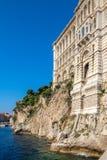 Oceanographic Museum of Monaco over the sea Royalty Free Stock Image