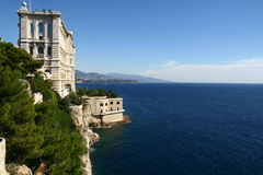 Oceanographic Museum in Monaco. By the sea Royalty Free Stock Photography