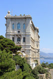 Oceanographic Museum in Monaco. View from Monaco bay with Oceanographic Museum Royalty Free Stock Images