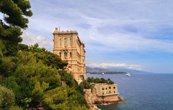 Oceanographic Museum. View of Oceanographic Museum of Monaco Royalty Free Stock Images