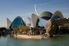 Oceanographic park Valencia Royalty Free Stock Images