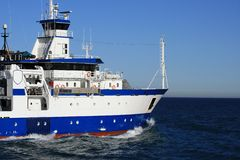 oceanographic ship Royaltyfri Bild