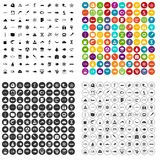 100 oceanology icons set vector variant. 100 oceanology icons set vector in 4 variant for any web design isolated on white Royalty Free Stock Photo