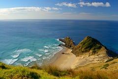 Oceans melting at Cape Reinga Stock Photos