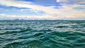 Oceans of Thailand. Taken from a small boat as I travelled between Koh Samui and Koh Five Royalty Free Stock Photo