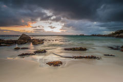 Oceanscape no nascer do sol Fotografia de Stock Royalty Free