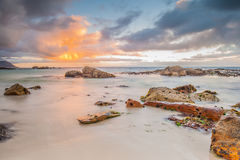 Oceanscape at sunrise Stock Photography