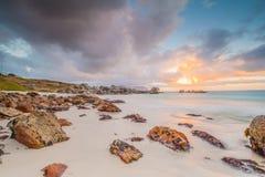 Oceanscape at sunrise Stock Photos