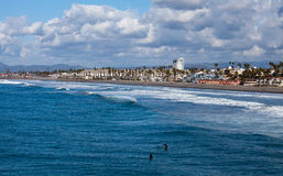 Oceanside Beach, California Stock Images