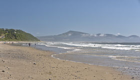 Oceanside beach and township Oregon state. Royalty Free Stock Images