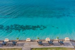 Oceanside Bistro Tables Stock Images