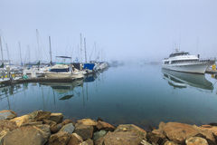 Oceanside California Foggy Harbor Stock Photos