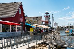 Oceanside Harbor Village in San Diego County royalty free stock images