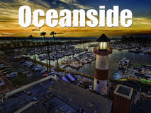 Oceanside Harbor at sunset Royalty Free Stock Images