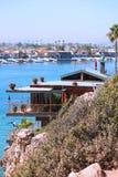 Oceanside House. A home in Corona del Mar overlooking Newport Harbor Stock Image