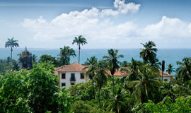 Oceanside houses in Olinda, Recife, Brazil Royalty Free Stock Images