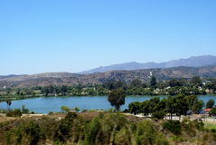 Oceanside Lake and Mountains Royalty Free Stock Photo