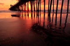 Oceanside Pier. Oceanside, California pier at sunset Royalty Free Stock Photography