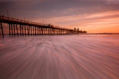 Oceanside Pier. Seascape San Diego, California Royalty Free Stock Photos